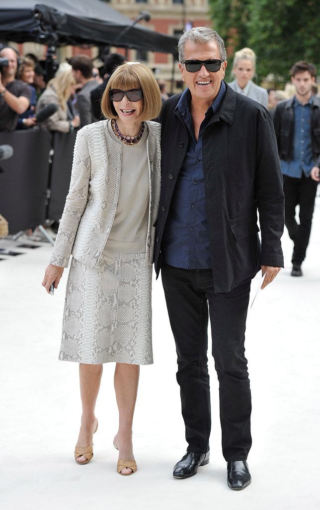 Anna Wintour and Mario Testino at Burberry
