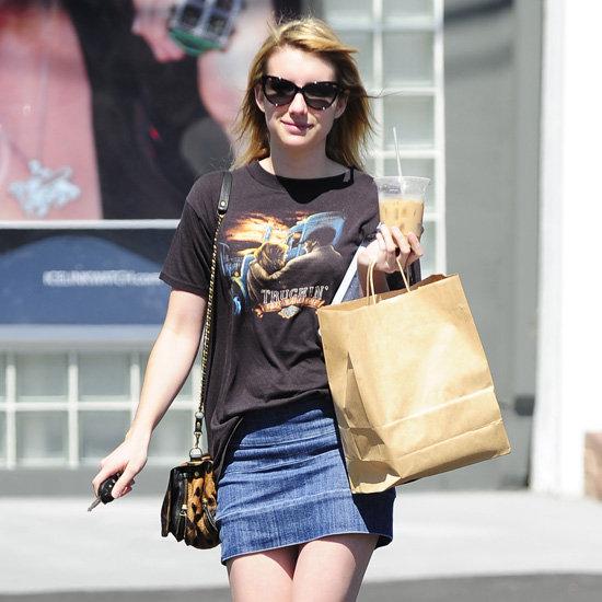 Emma Roberts Leopard Bag