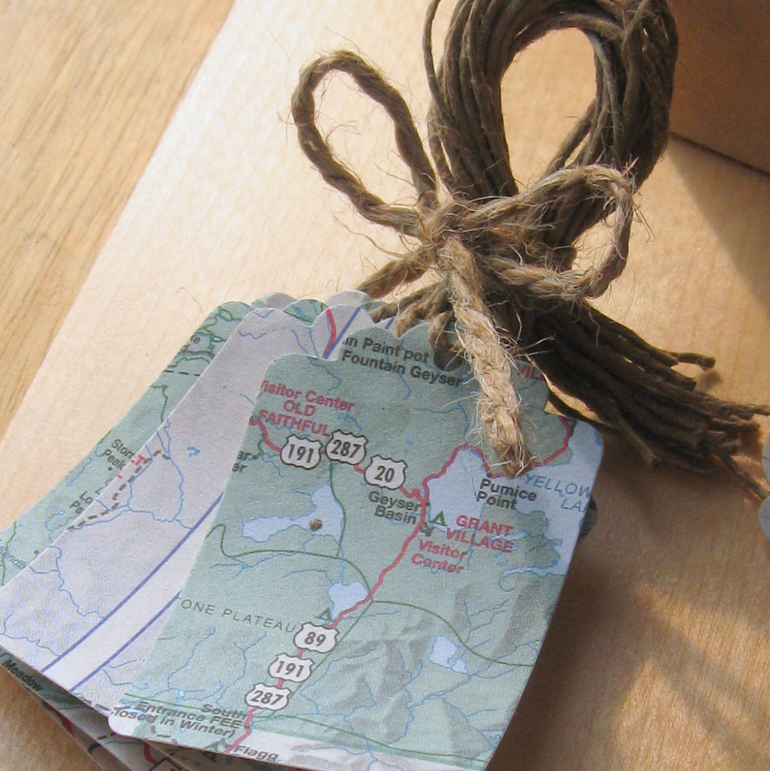 Map Gift Tag or Bookmark | 221 Upcycling Ideas That Will ...