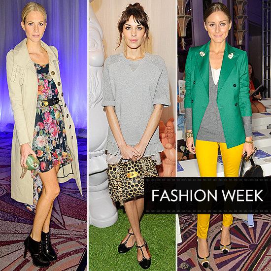 London Fashion Week Front Row Celebrities