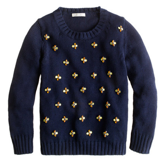 Crewcuts Jeweled Daisy Sweater ($88)