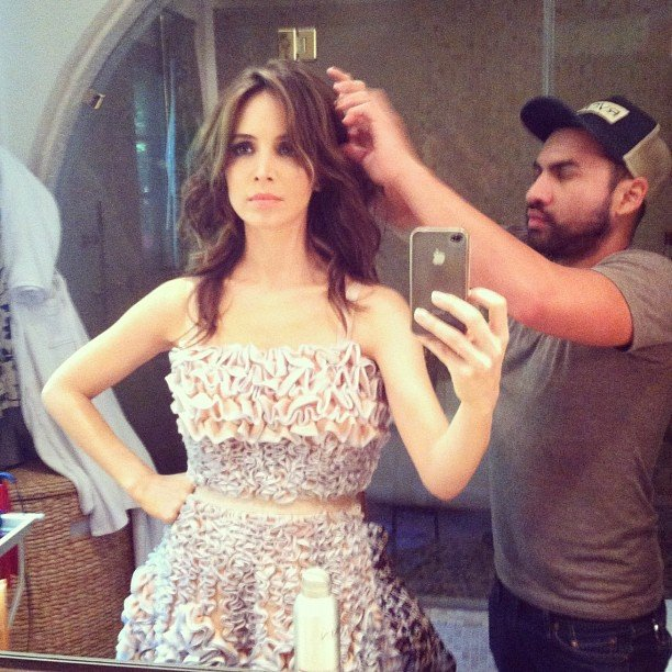 Eliza Dushku got her hair done. Source: Instagram user elizadushku