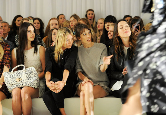 Lana Del Rey, Kate Moss, Alexa Chung and Rebecca Hall checked out the Mulberry runway on Monday September 17.