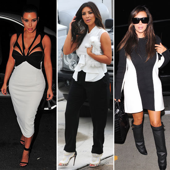 We Tip Our Hat to Kim Kardashian and her New, Monochrome Wardrobe