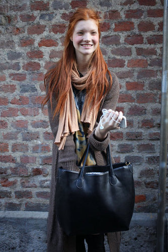 Classic Fall layers and gorgeous red locks. Source: Greg Kessler
