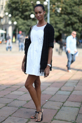 Black and white and totally feminine.