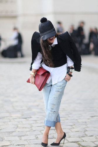 The accessories had it in this street-casual mix.