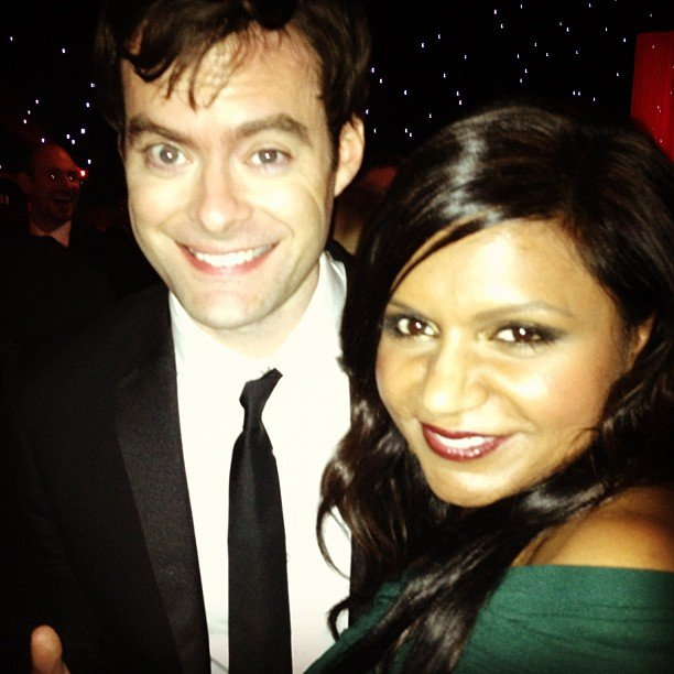 Mindy Kaling met up with Bill Hader. Source: Instagram user mindykaling