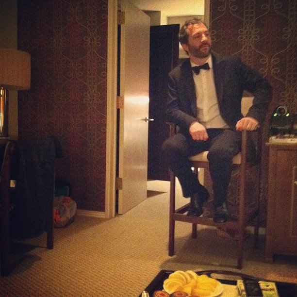 Lena Dunham shared a photo of Judd Apatow. Source: Instagram user lenadunham