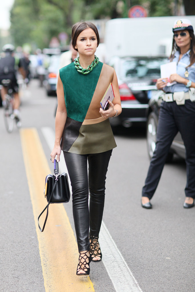 Miroslava Duma gives us one more reason to break out our leather pants right now. Source: Greg Kessler