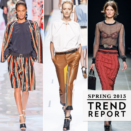 Trend Report: The Biggest Runway Trends from 2013 Spring Milan Fashion Week! Sheer, Cut-outs, Leather and more. . .