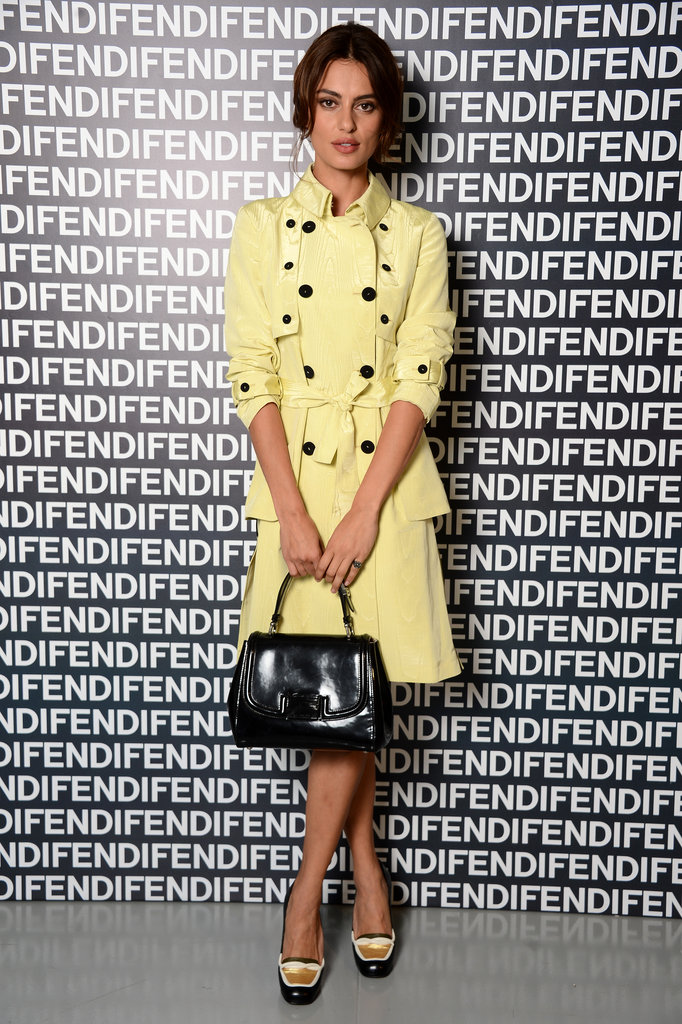 Look to Catrinel Marlon's lemon yellow trench coat for lessons in how to wear your trench as a dress and how to incorporate pastel hues into your wardrobe.