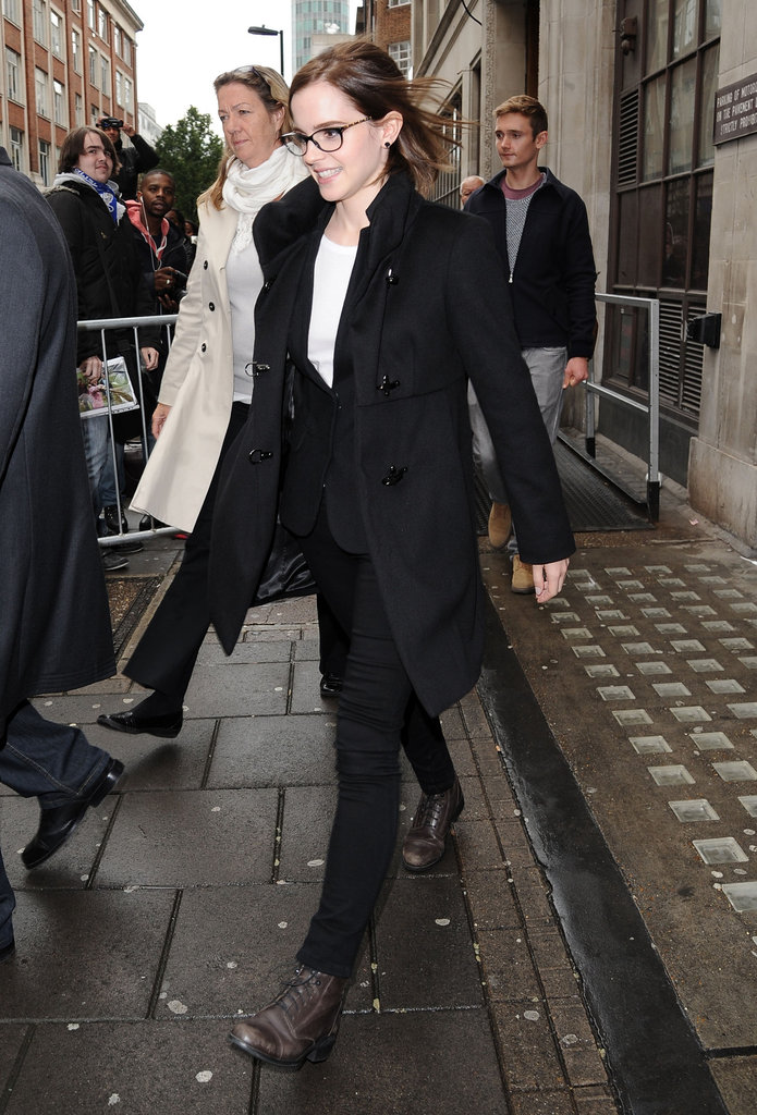 Emma Watson made an appearance at BBC Radio 1 in London.
