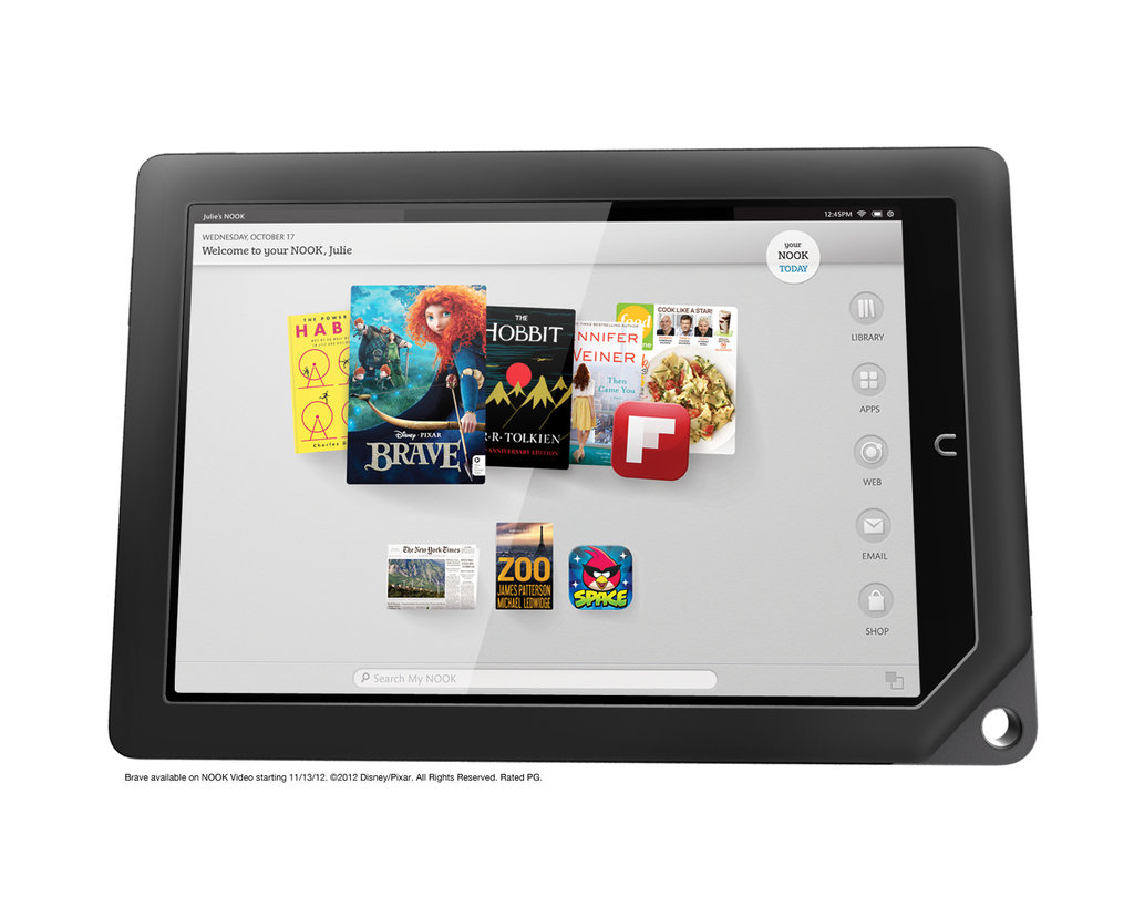 Lightest in its class — The Nook HD+ is a lightweight at 11.1 ounces, whereas the hefty Kindle Fire HD comes in at 13.9 ounces.