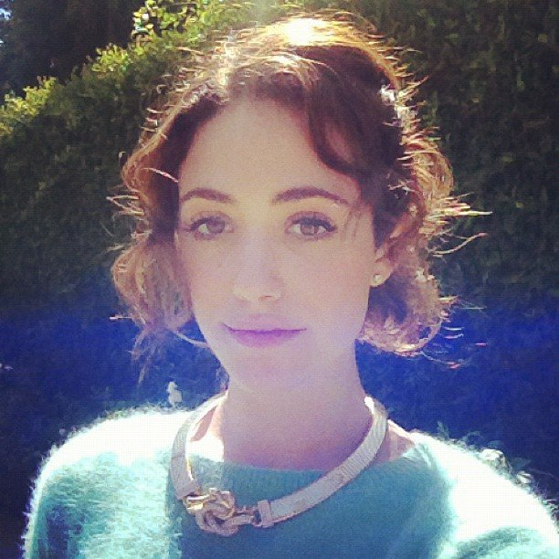 Emmy Rossum showed off a gorgeous collar necklace. Source: Instagram user emmyrossum