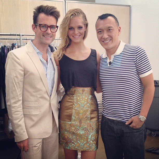 Brad Goreski worked with Joe Zee and Erin Heatherton at the Elle offices. Source: Instagram user mrbradgoreski