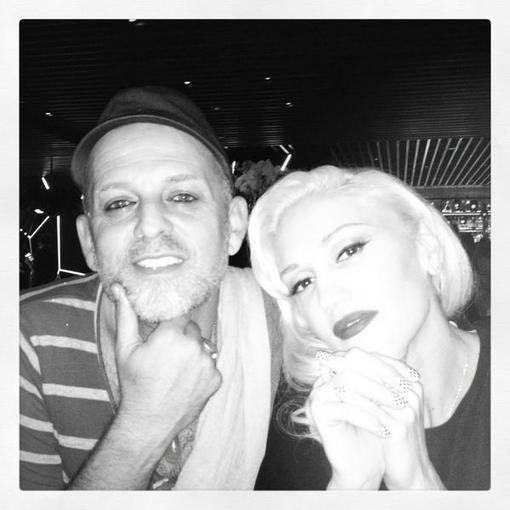 Gwen Stefani celebrated a night out with her hairstylist, Danilo. Source: Twitter user gwenstefani