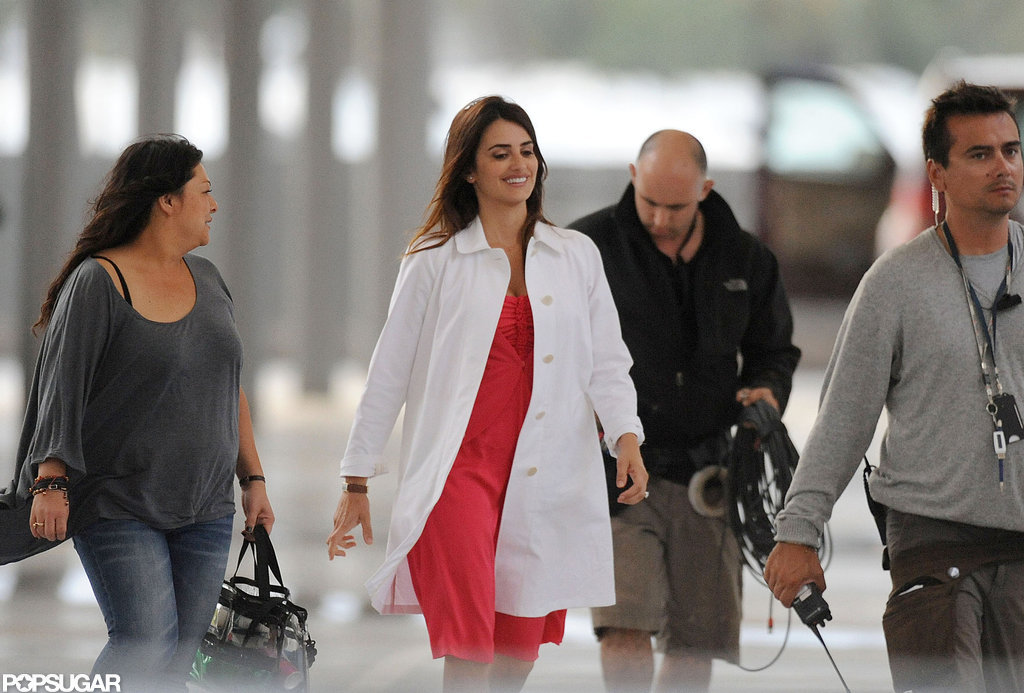 Penelope Cruz walked onto the set of The Counselor.