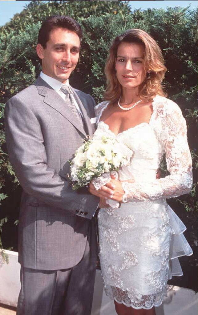 Princess Stephanie and Daniel Ducret  The Bride: Princess Stephanie of Monaco, youngest daughter of Grace Kelly and Prince Rainier III. The Groom: Daniel Ducruet, the princess's former body guard. When: July 1, 1995. They already had two children, but soon divorced in 1996. Where: Monaco