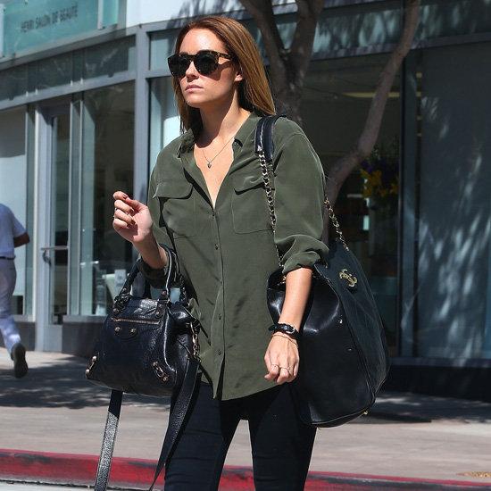 Lauren Conrad Wearing Olive Green Top