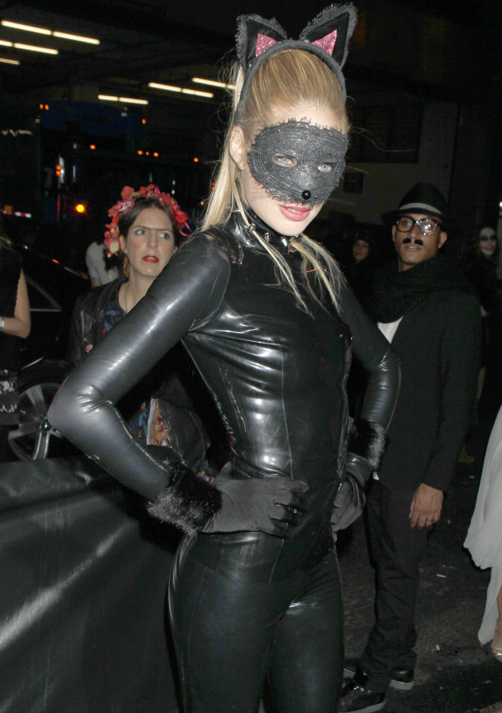 Doutzen Kroes was a sexy cat for Halloween in NYC in 2011.