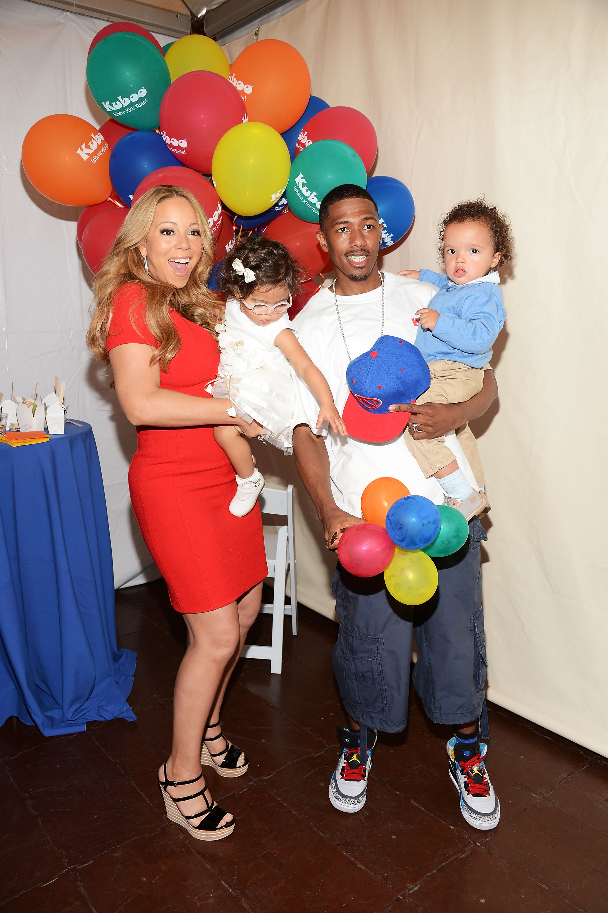 Nick Cannon and Mariah Carey and Mariah Carey had a family day with their twins, Moroccan and Monroe Cannon.
