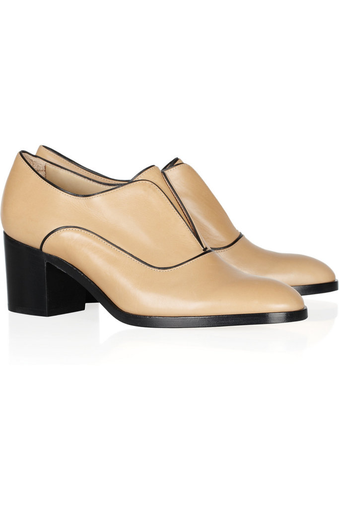 These minimalist Reed Krakoff Oxford Leather Loafers ($625) would go with practically everything — and we love that the heel is just a little elevated to give us a lift without the pain of wearing heels.