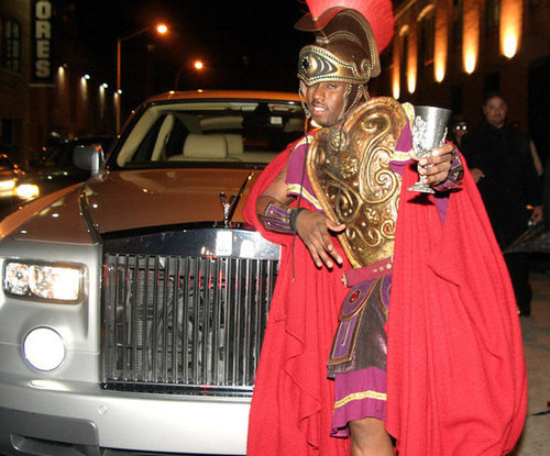 Diddy got royal outside an NYC bash in 2004.