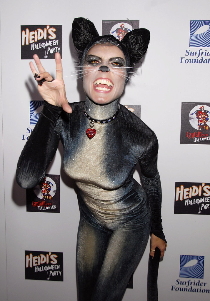 Heidi Klum got catty for her 2007 costume in LA.