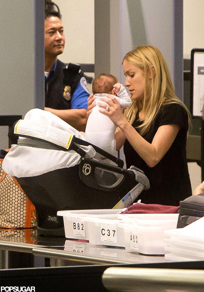 Kristin Cavallari traveled with little Camden Cutler.