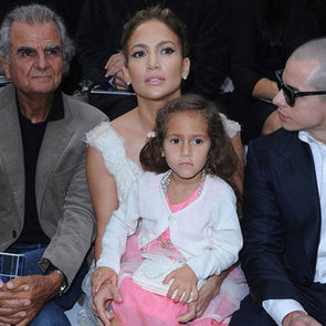 Jennifer Lopez Pictures With Emme Anthony and Casper Smart Front Row at Chanel