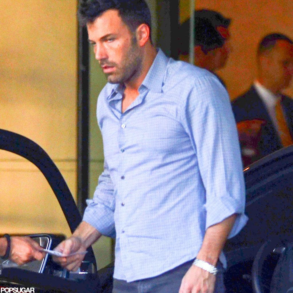 Ben Affleck got his car at the valet.