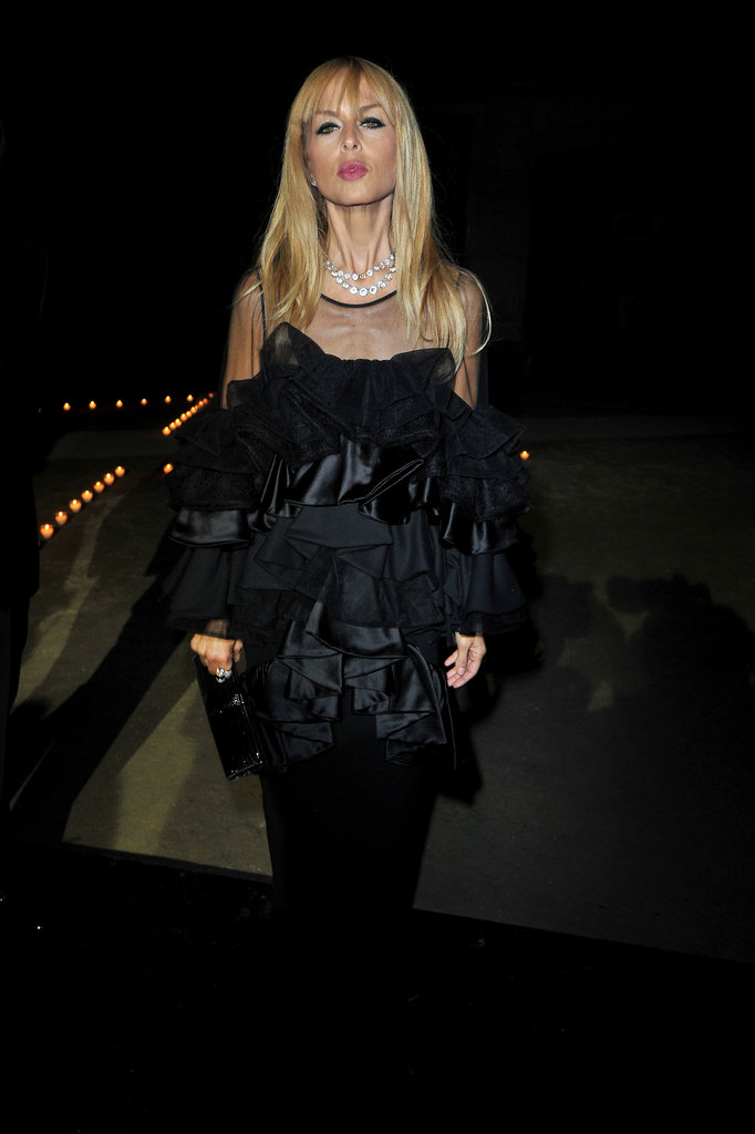 Rachel Zoe gave her black ensemble a textural upgrade by wearing full-on ruffles, too.