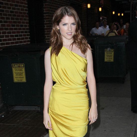 Anna Kendrick Wearing Yellow Dress