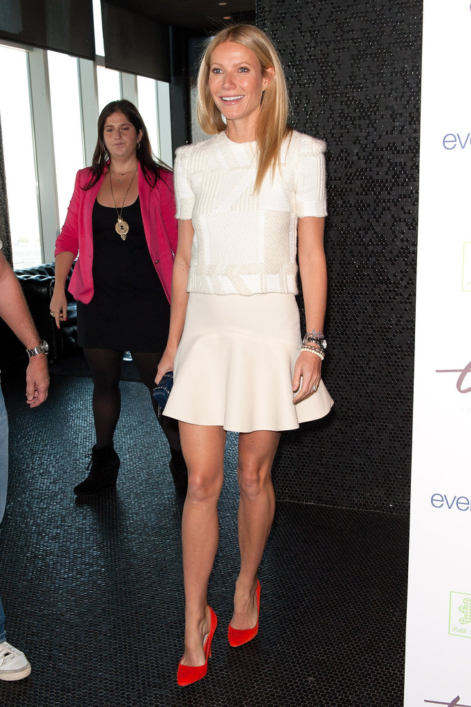 Gwyneth Paltrow arrived at a Tracy Anderson event in NYC.