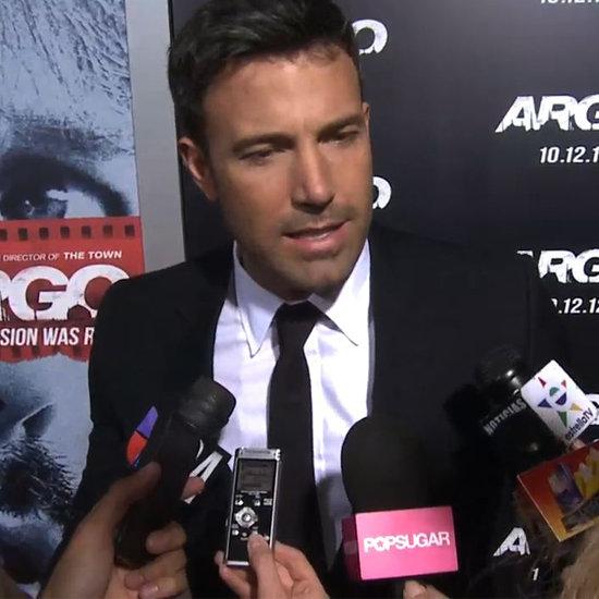 Ben Affleck Interview at Argo Premiere (Video)