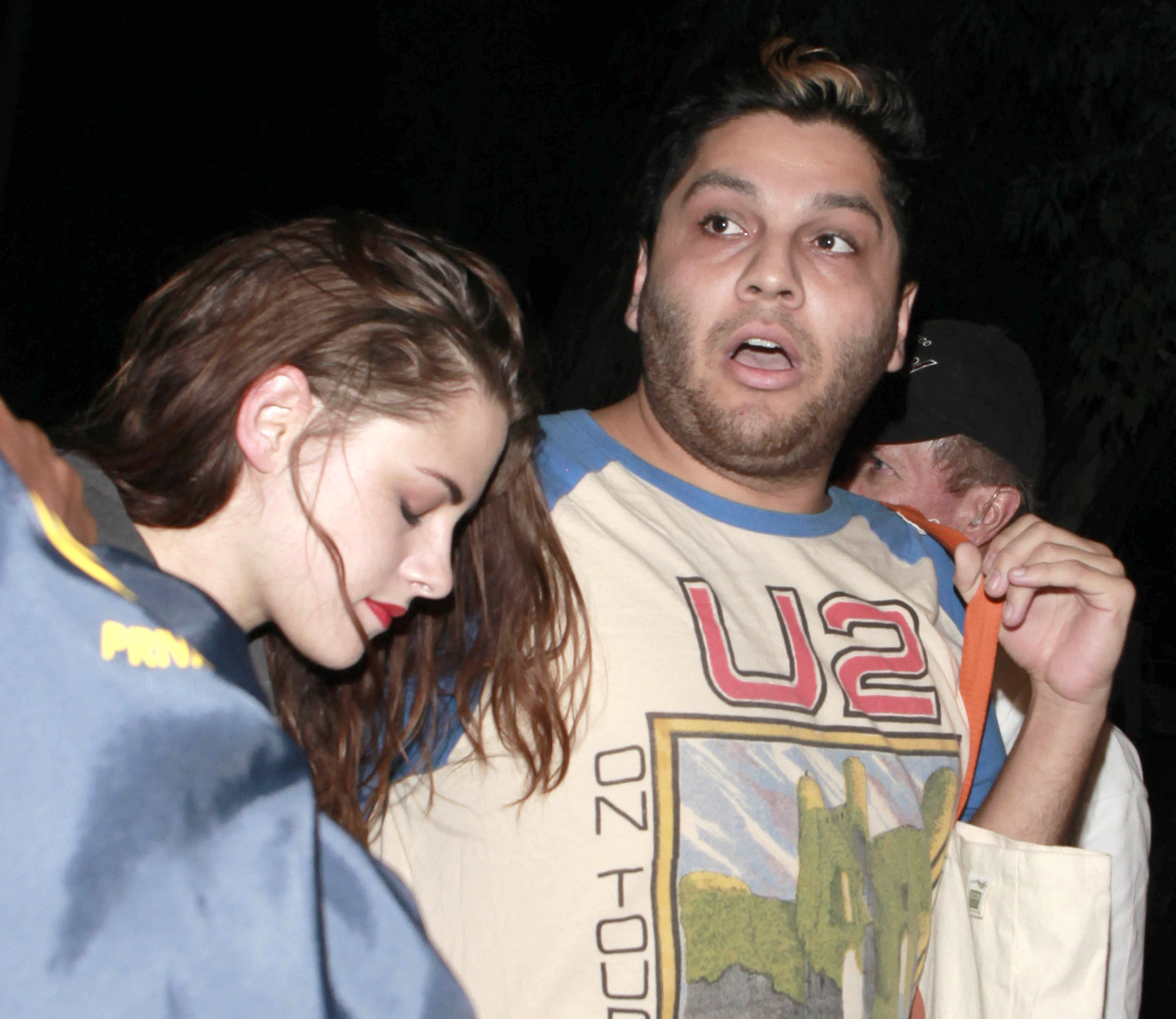 Kristen Stewart hung out with friends at a Florence and the Machine concert.