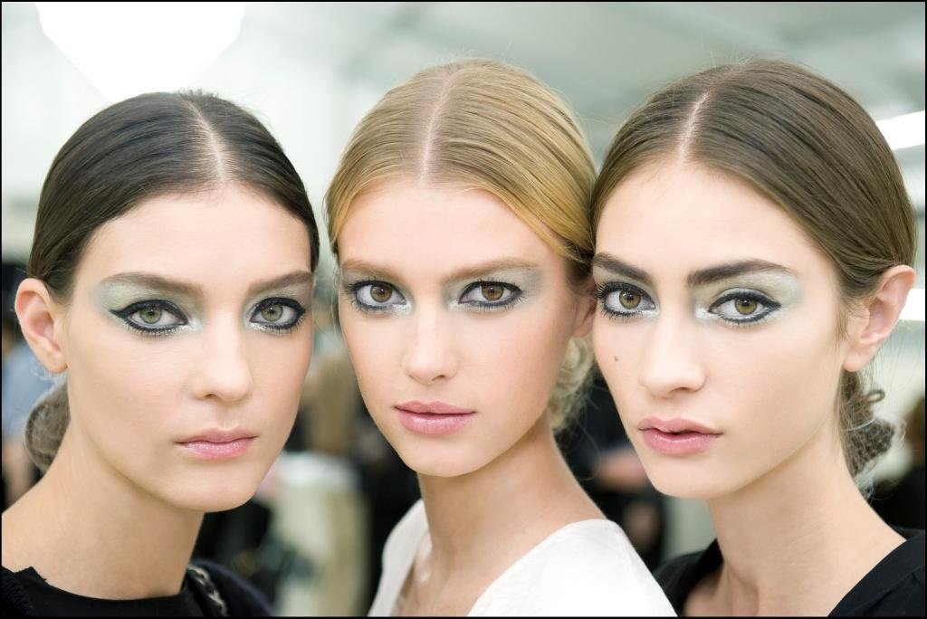 Pictures of Chanel's Spring 2013 Makeup Look at Paris Fashion Week Including Chanel's French Manicure