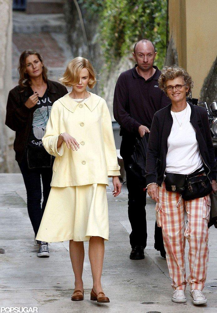 Nicole Kidman filmed as Grace Kelly for her new film, Grace of Monaco, in France.