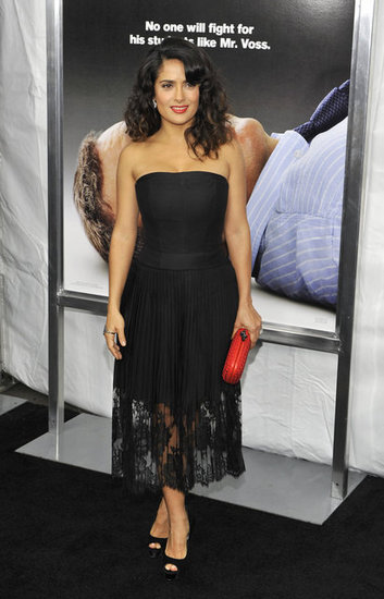 Salma Hayek was all smiles at the premiere.