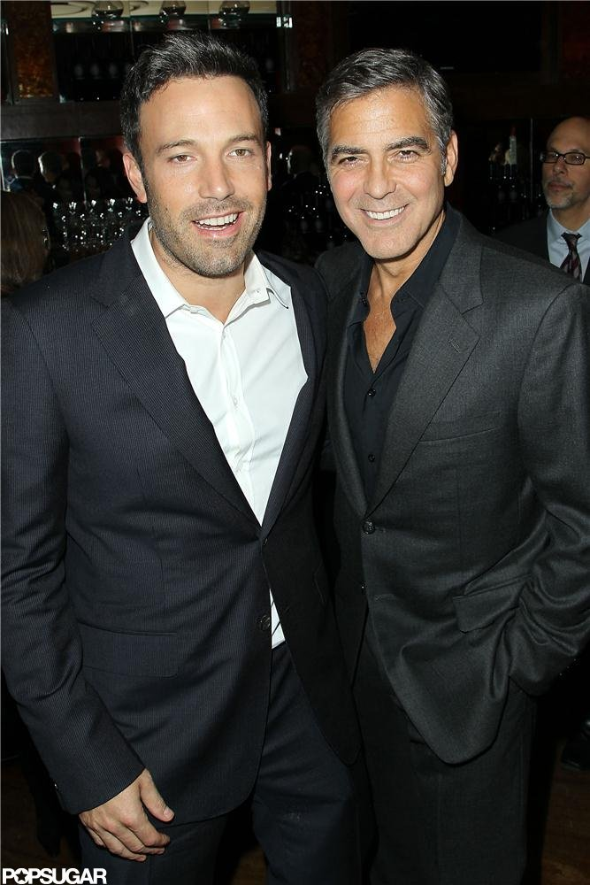 Ben Affleck and George Clooney attend the NYC screening of Argo.