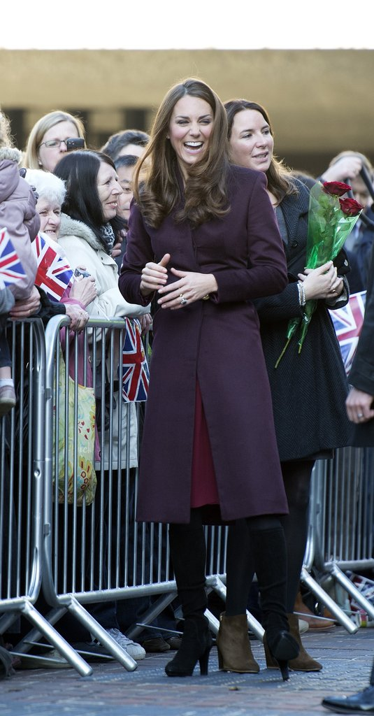 Kate arrived to tour the Newcastle Civic Centre.