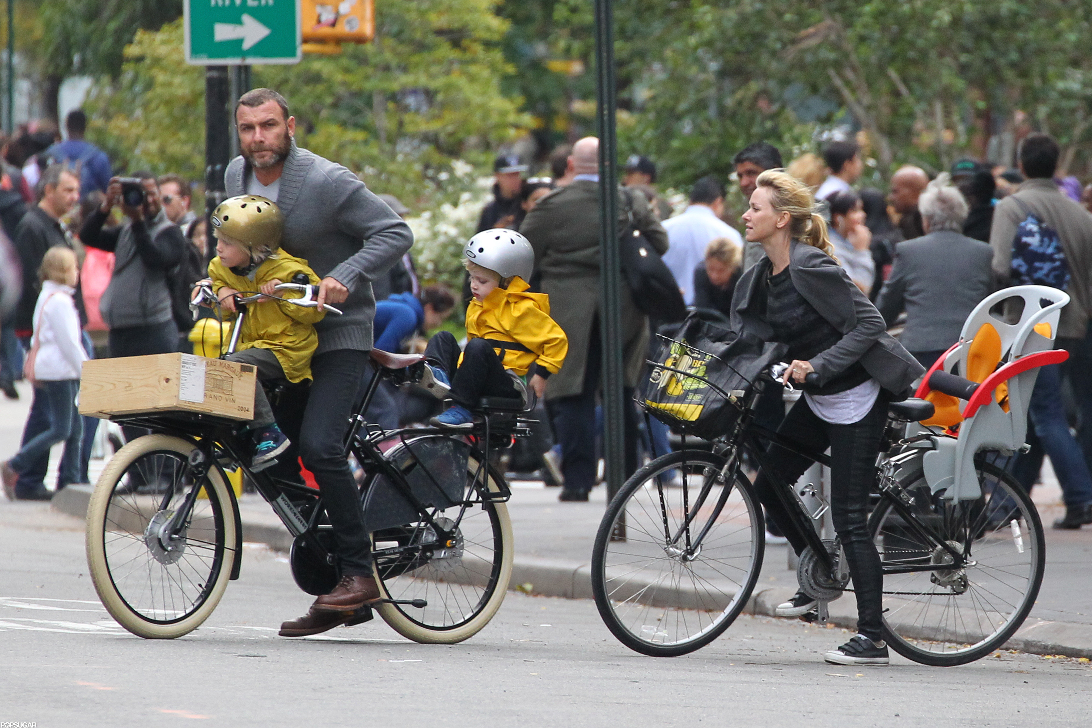 Naomi Watts and Her Boys Wheel Around the Big Apple