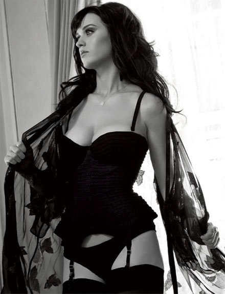 Katy Perry slipped into a sexy black ensemble for the July 2011 issue of Esquire.