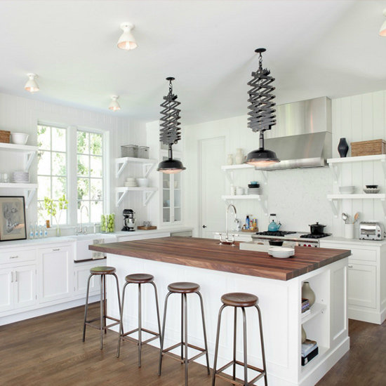 Get the Look: Molly Sims's Rustic but Modern Hamptons Kitchen