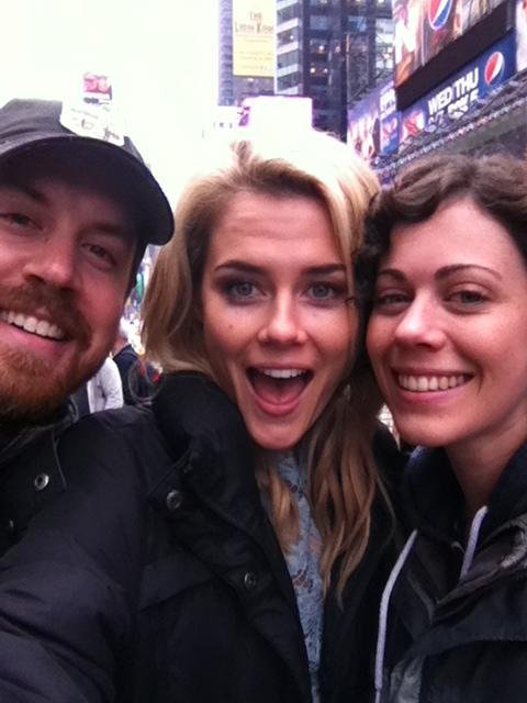 Rachael Taylor wrapped a day of shooting her TV show 666 Park Avenue. Source: Twitter user _Rachael_Taylor