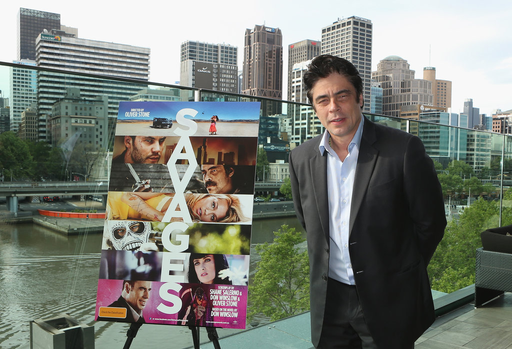Benicio Del Toro attended a photocall in Melbourne on October 11, to promote his new film Savages.