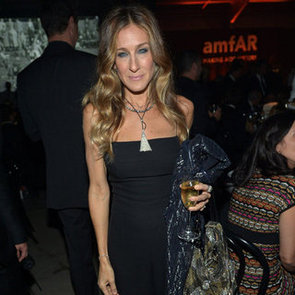 Sarah Jessica Parker Wearing Black Jumpsuit