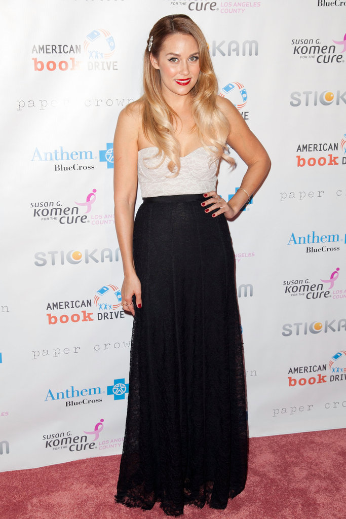 Lauren Conrad hosted the Susan G. Komen foundation's Designs For the Cure gala in LA in October 2012.
