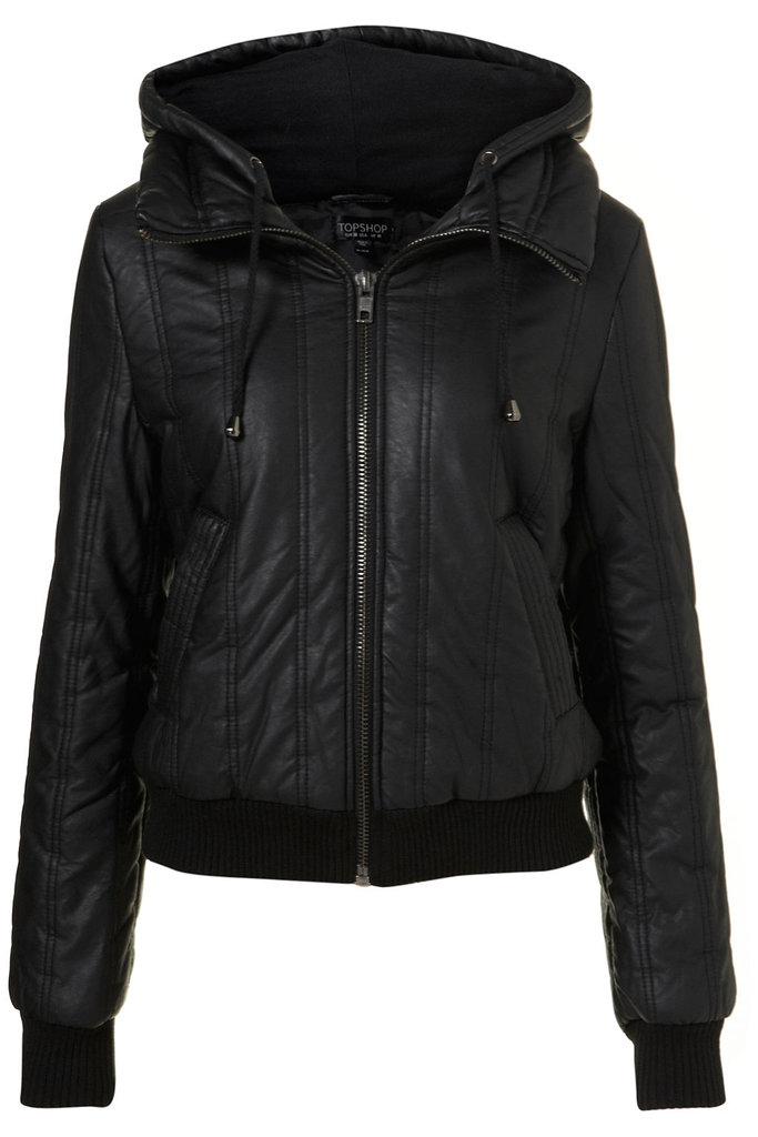 A basic black bomber jacket at a great price? Sign us up for Topshop's Bomber Jacket ($130) any day of the week.
